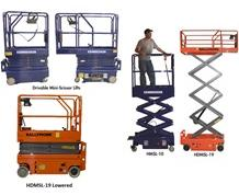 DRIVABLE AND PUSH-ABLE SCISSOR LIFTS